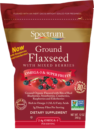 Ground Flaxseed with Mixed Berries