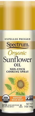 Organic Sunflower Oil Non-Stick Cooking Spray