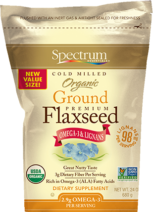 Organic Ground Flaxseed value size