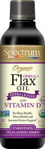 Organic Ultra Lignan with Vitamin D Omega-3 Flax Oil