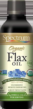 Organic Flax Oil, Shelf Stable Liquid