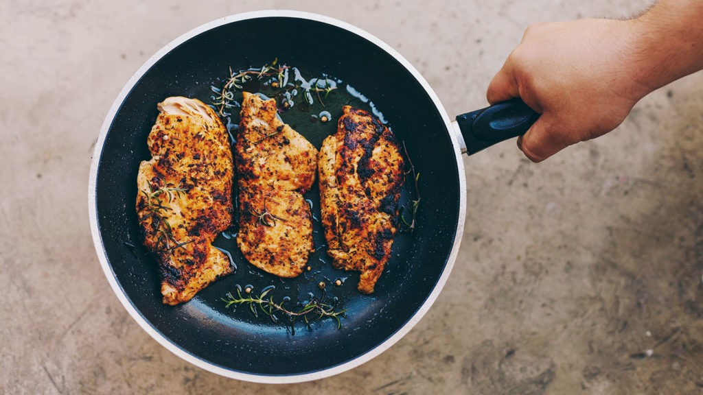 Pan Fried Chicken in Olive Oil